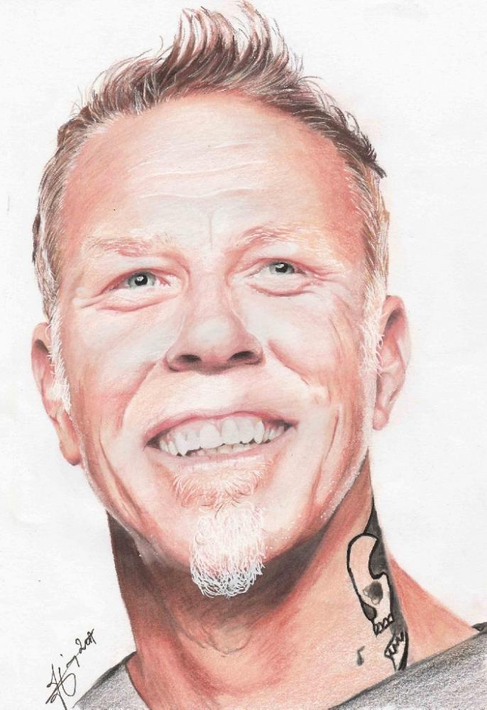 James Hetfield por metaldrawings